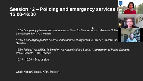 Thumbnail for entry Session 12 - Policing and emergency services in Sweden