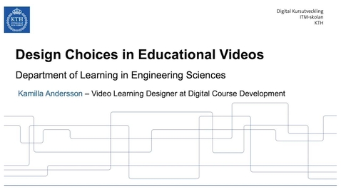 Thumbnail for entry Design choices in educational videos (Lunch 'n' Learn)