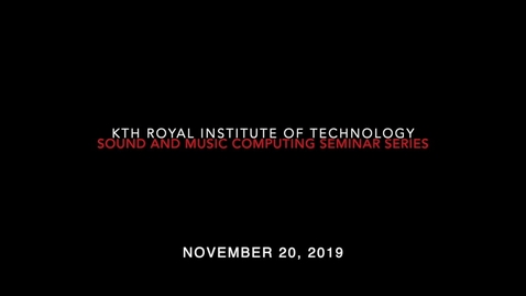 Thumbnail for entry Keynote  by Ulf Olausson -  Making Film Sound Real November 20,  2019