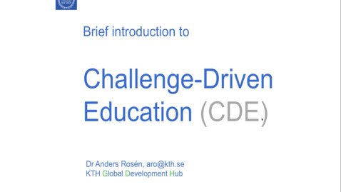 Thumbnail for entry Powerpoint presentation - A brief Introduction to CDE .mp4
