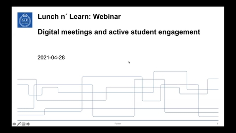 Thumbnail for entry Digital meetings and active student engagement (Lunch 'n' Learn: Webinar 2021-04-28)