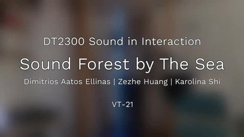 Thumbnail for entry DT2300 - 2021: Sound Forest by The Sea