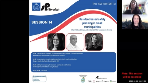 Thumbnail for entry Session 14 - Resident-based safety planning in small municipalities
