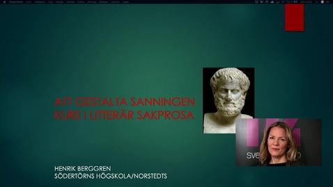 Miniatyr för inlägg Henrik Berggren, historiker och författare, talar om akademisk sakprosa och akademiskt författande.