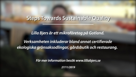 Miniatyr för inlägg Module 4: Steps towards sustainable quality. Lilla Bjers