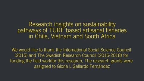 Miniatyr för inlägg Research insights on sustainability pathways for TURF