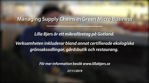 Miniatyr för inlägg Module 6: Gröna leverantörskedjor och nätverk. Lilla Bjers