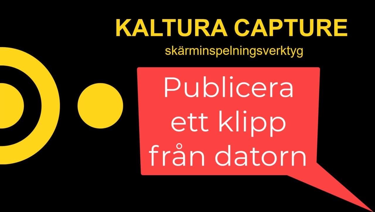 Kaltura - ladda upp en fil från datorn