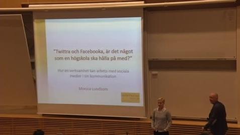 Miniatyr för inlägg Monica Lundbom –  Extern och intern kommunikation i sociala medier /2015