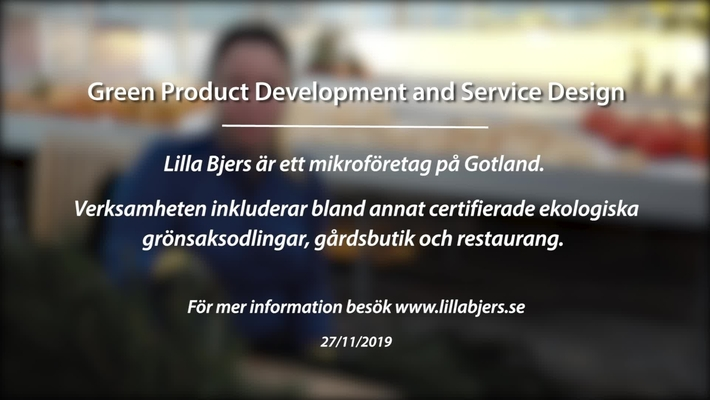 Module 5: Green product development and service design. Lilla Bjers