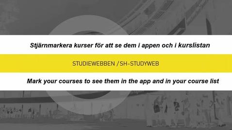 Miniatyr för inlägg Stjärmarkera din kurs / Starmark your course