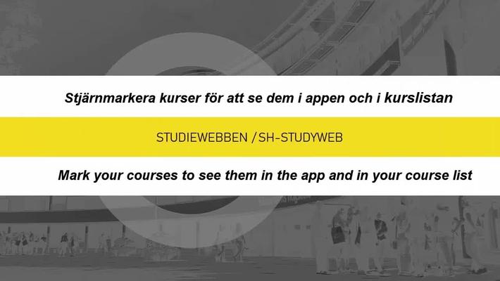 Stjärmarkera din kurs / Starmark your course