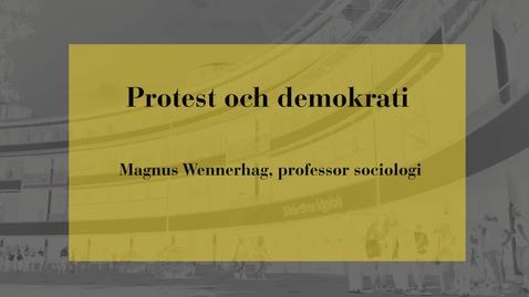 Miniatyr för inlägg Protest och demokrati