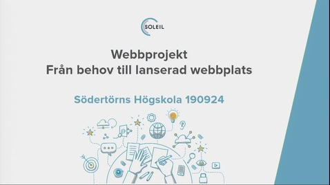 Miniatyr för inlägg Catharina Carlsson - Webbprojekt, från behov till lanserad webbplatsm / 2019