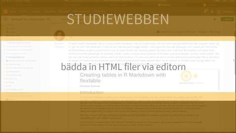 Miniatyr för inlägg Bädda in html kod i editorn