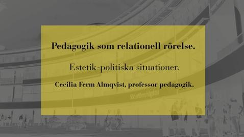 Miniatyr för inlägg Pedagogik som relationell rörelse: Estetik-politiska situationer