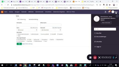 Miniatyr för inlägg Deltagarlista med mejladresser studiewebben