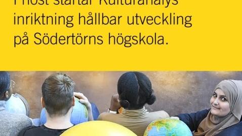 Miniatyr för inlägg Kulturanalys med inriktning hållbar utveckling - nytt program i höst