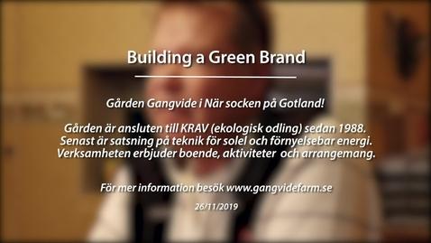 Miniatyr för inlägg Module 3: Building a green brand. Gangvide Farm