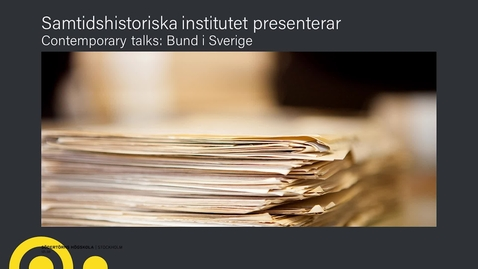 Miniatyr för inlägg Contemporary Talks: Bund i Sverige