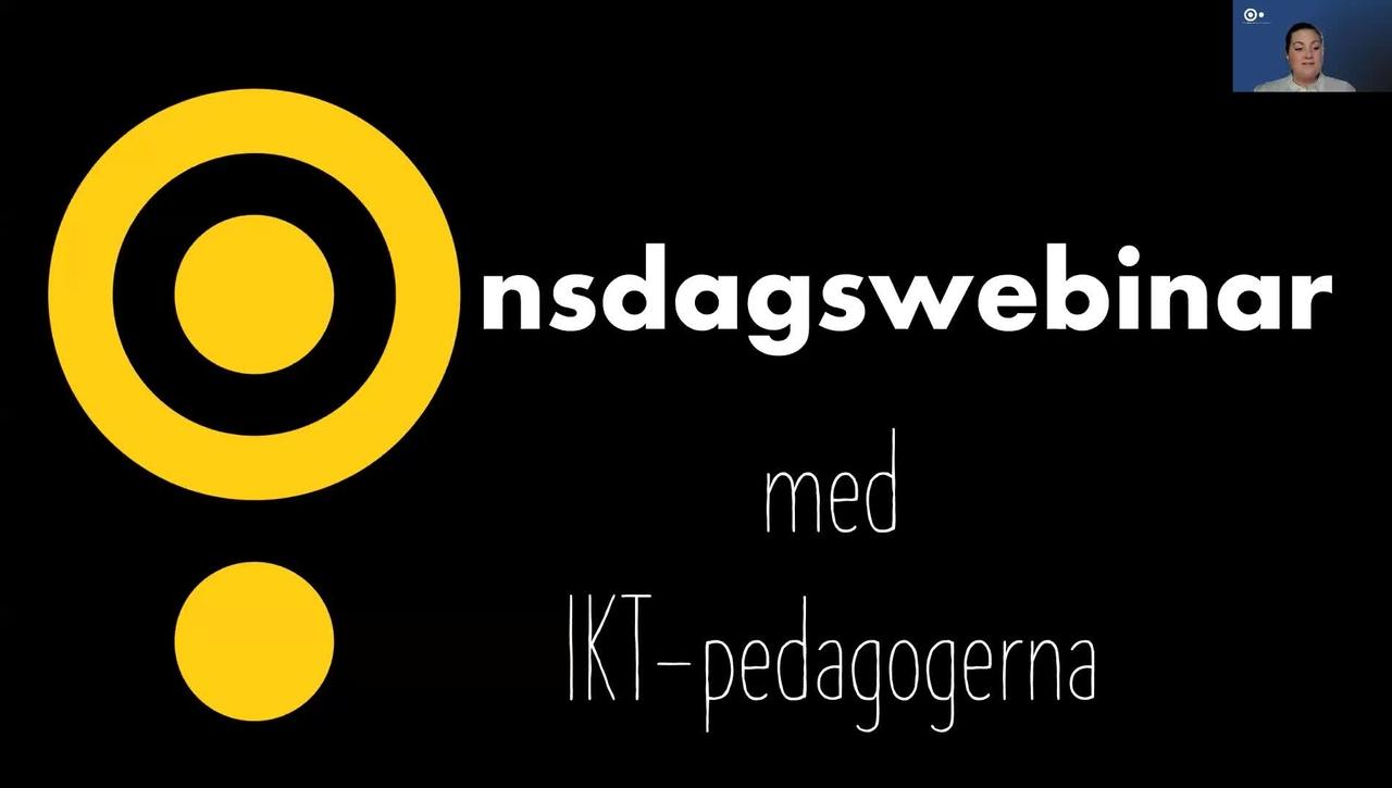 Onsdagswebinar -  quizz i Kaltura