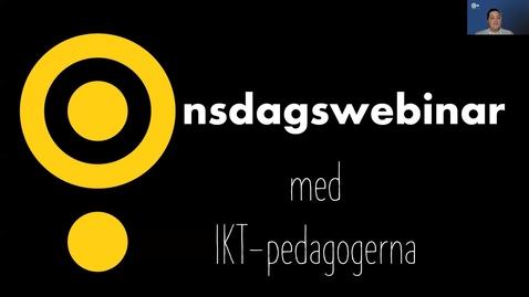 Miniatyr för inlägg Onsdagswebinar -  quizz i Kaltura