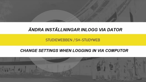 Miniatyr för inlägg Inställningar - inlogg via dator / Settings - log in with a computer