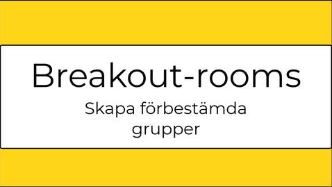 Miniatyr för inlägg Förbered breakout-rooms i Zoom