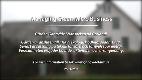 Miniatyr för inlägg Module 1: Managing green micro business. Gangvide Farm
