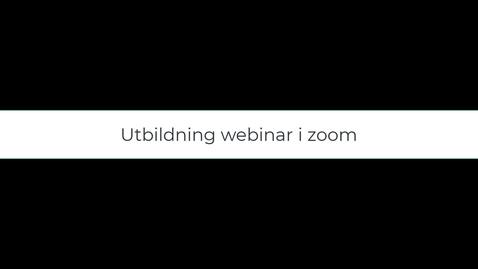 Miniatyr för inlägg Utbildning hantera webinar i zoom