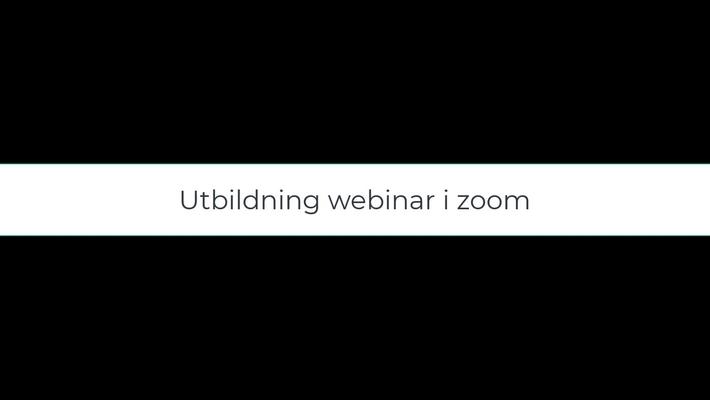 Utbildning hantera webinar i zoom