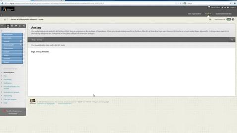 Thumbnail for entry Lagga in webblank i din kurs i Blackboard Learn 9.1