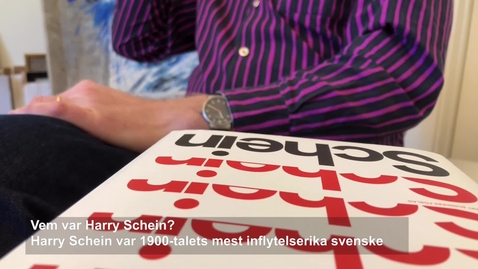 "Thumbnail for entry Per Vesterlund om boken ""Schein: En biografi"""