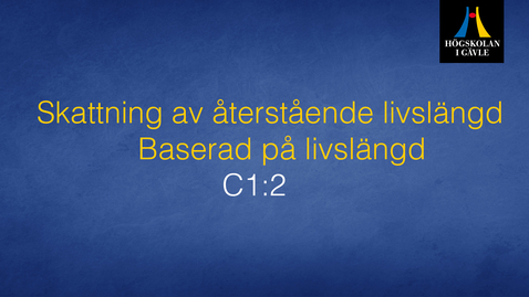 Thumbnail for entry Skattning av återstående livslängd - Modul C1:2