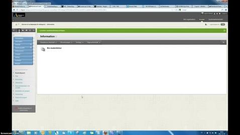 Thumbnail for entry Lagga in dokument i kurs Blackboard Learn 9.1