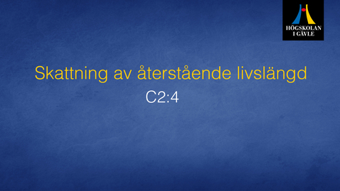 Thumbnail for entry Skattning av återstående livslängd . Modul C2:4