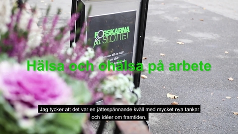 Thumbnail for entry Forskarna på slottet 181009- intervjuer med deltagare
