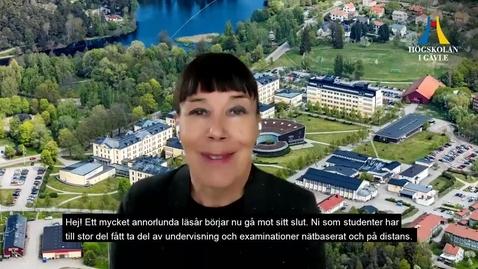 Thumbnail for entry Rektors sommarhälsning till studenter 2021