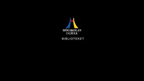 Thumbnail for entry Biblioteket trailer