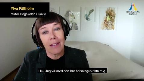 Thumbnail for entry Videohälsning till studenter som tar examen - svensk version