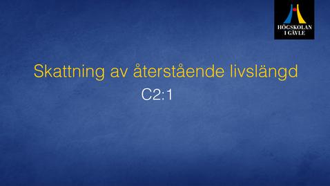 Thumbnail for entry Skattning av återstående livslängd . Modul C2:1