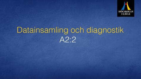 Thumbnail for entry Datainsamling och diagnostik -  Modul A2:2