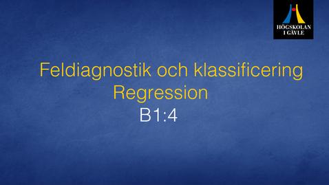 Thumbnail for entry Feldiagnostik och klassificering - Modul B1:4