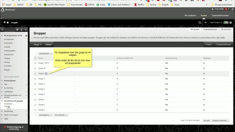 Thumbnail for entry Blackboard - Lägga till deltagare i befintlig Grupp