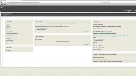 Thumbnail for entry 2. HiG Play - Spela in powerpoint presentation via blackboard