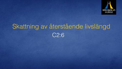 Thumbnail for entry Skattning av återstående livslängd . C2:6