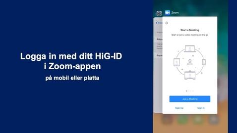 Thumbnail for entry Logga in på rätt sätt i Zoom's mobilapp