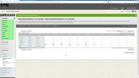 Thumbnail for entry Arbeta offline Kursadministration och resultat Blackboard Learn 9.1 (1)