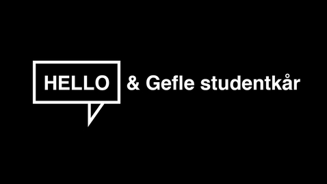 Thumbnail for entry Gefle Studentkår välkomnar nya studenter