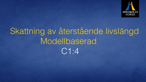 Thumbnail for entry Skattning av återstående livslängd - Modellbaserad  - Modul C1:4